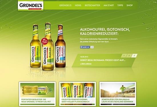 Gründel's Produktwebseite